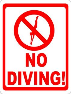 printable no diving sign free download pool signs pdf