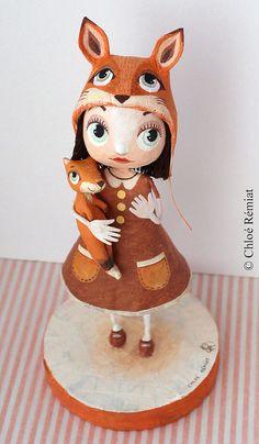 Chica en Vixen muñeca OOAK por chloeremiat en Etsy