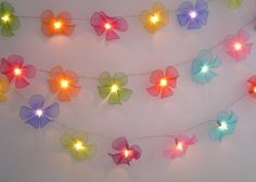 Nylon Crafts, Indoor String Lights, Light String, Flower Fairy Lights, Warm White Fairy Lights, Nylon Flowers, Light Decorations, Hanging Decorations, Wedding Supplies