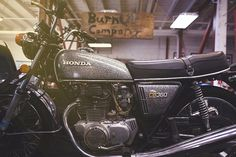 Honda CB360 coming home to the scotch and iron shop.