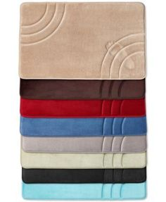 Sunham Inspire Memory Foam Bath Rug Collection non-skid back. Only at Macy's