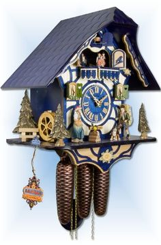 Cuckoo Clocks For Sale, Happy Wanderers, Forest Falls, Blue Clocks, Unusual Clocks, Mechanical Clock, Chalet Style, Horse Farms, Black Forest