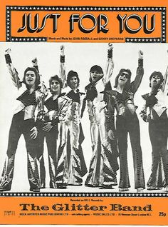 Nice Rare 1970's The Glitter Band Just For You Sheet Music NM Glam Rock