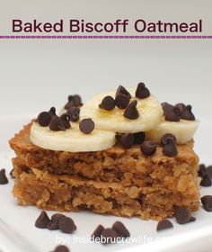 Baked Biscoff Oatmeal Squares