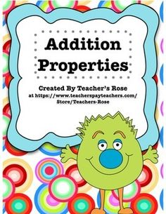 This worksheet helps students learn how to use the addition properties as well…