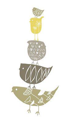 """Birdstack Brown"" by my printspace, via Flickr"