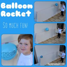 Balloon Rocket…an easy & FUN Science Experiment for Kids - Talia's teachers did this with her for VBS 2015 & she LOVED it!