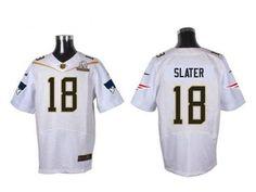 Nike Patriots #18 Matt Slater White 2016 Pro Bowl Men's Stitched NFL Elite Jersey