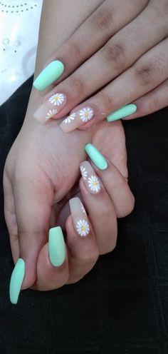 Acrylic Nails Coffin Short, Simple Acrylic Nails, Best Acrylic Nails, Acrylic Nails For Spring, Spring Nail Art, Coffin Nails, Cute Gel Nails, Neon Nails, Purple Nails