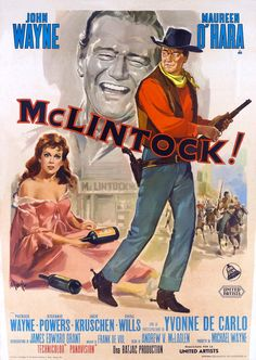 John Way and Maureen O'Hara in  McLintock-1963