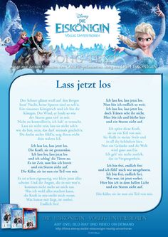 Die Eiskönigin - Let it Go - Song Text Frozen Text, Olaf Frozen, Frozen Birthday Party, Frozen Party, Happy Birthday, Let It Go Song, Let It Be, Elsa Anna, Letting Go