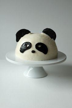 "Panda Cake ~ via this blog, ""Oh sweet Day!"""