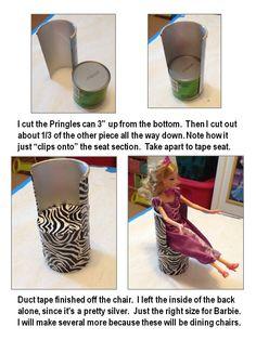 Pringles Can Barbie Chair tutorial