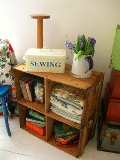 Vintage crates from Lavender House Vintage #vintage#home#interiors#crates#shelving