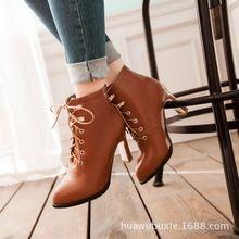 Boots cao gót nữ cổ ngắn, kiểu dáng trẻ trung, thời trang Hàn Quốc