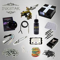 Inkstar 1 Machine Tattoo Kit Equipment Ink Gun Set Tatoo Tki1 *** You can get additional details at the image link.