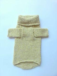 Pastel Dog Sweater. Handmade Dog Clothes. Pet Clothing. Hand