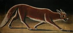Fox 1918 Wood Print by Pirosmani Niko. All wood prints are professionally printed, packaged, and shipped within 3 - 4 business days and delivered ready-to-hang on your wall. Wildlife Paintings, Art Database, Naive Art, Wood Print, Great Artists, Moose Art, Tapestry, Art Prints, Animals