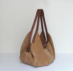 Large leather shoulder bag Soft leather bag Slouchy by Laroll