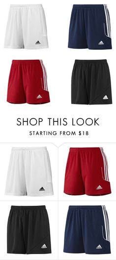 """Soccer Shorts"" by timmichael on Polyvore featuring adidas"