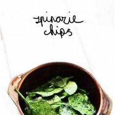 Gezonde Spinazie Chips