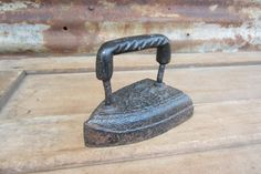 Antique Sad Iron Primitive Cast Iron Metal by TheOldTimeJunkShop