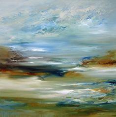 Abstract Landscape Paintings on Behance. \Cielo\ acrylic  oil glazes on 48\x48\ canvas 2013 Cat Tesla