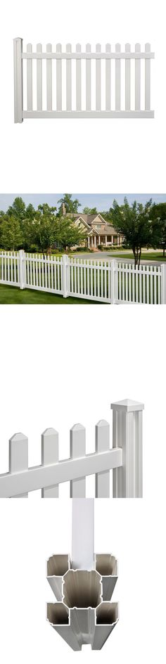 Fence Panels 139946: Privacy Vinyl Picket Fence Panel 4 X 7 Ft Garden Lawn  Backyard