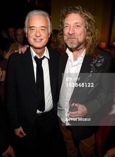 News Photo: Jimmy Page and Robert Plant attend the after party for the NYC premier of Celebration Day 10/09/12