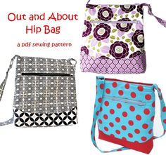 Looking for your next project? You're going to love Out and About Hip Zipper Bag by designer Pattern Play.