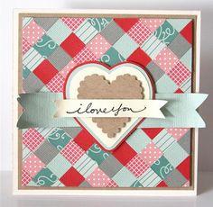 paper quilt! great idea for scraps!