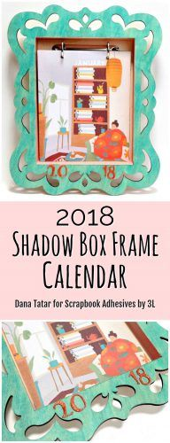 Check out this #homedecor piece #DIY 2018 SHADOW BOX CALENDAR by @datatar By using our 3D Foam Creative Embellishment Kit and 3D Foam Squares, she put this together in no time. Visit the blog for her #diytutorial #handmade #scrapbookadhesivesby3l #adhesives