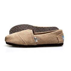 Zapatos Toms Hombre Burlap Classics Natural