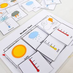 Free Printable Weather Chart for Home or School | A Little Pinch of Perfect
