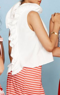 Reversible Ruffle Tank by MDS STRIPES Now Available on Moda Operandi