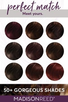 Take the color quiz to find your perfect hair color shade- aubergine purple hair, hot chocolate brown hair color, amaretto red, auburn red hair, cinnamon brown, cayenne red hair color, or maybe caramel hair. Free of ammonia, PPD, resorcinol, parabens, phthalates, and gluten & full of keratin, argan oil, and ginseng root extract. Cruelty-free and gluten-free. #haircolor #redheads #brunette #hair #hairdye