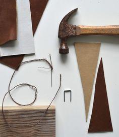 DIY leather bunting