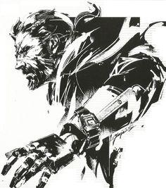 Scan of the artwork drawn for the MGSV Seiko Snake Metal Gear, Metal Gear Solid Series, Cooler Stil, Character Art, Character Design, Metal Gear Rising, Snake Art, Gear Art, Art Graphique