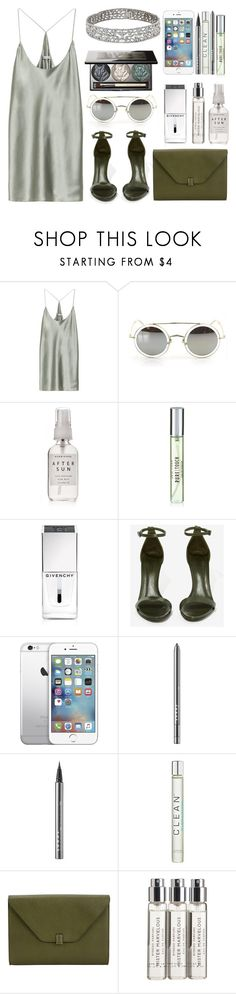 """""""Kill Em With Kindness"""" by tamaramanhardt ❤ liked on Polyvore featuring T By Alexander Wang, Herbivore, New Look, Givenchy, Schutz, Chantecaille, LORAC, CLEAN, Valextra and Byredo"""