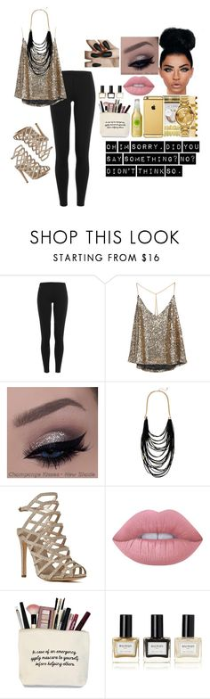 """""""Oh im sorry, did you say something?No?didn't think so."""" by keaira13 ❤ liked on Polyvore featuring Polo Ralph Lauren, Sparkling Sage, Lime Crime and Balmain"""