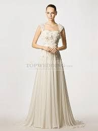 a line chiffon wedding dresses with sleeves