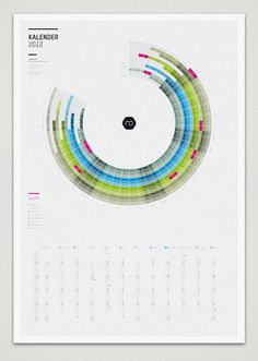 Infographic Calendar 2012 on Behance
