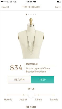 Romolo Macie Layered Chain Beaded Necklace. I love Stitch Fix! A personalized styling service and it's amazing!! Simply fill out a style profile with sizing and preferences. Then your very own stylist selects 5 pieces to send to you to try out at home. Keep what you love and return what you don't. Only a $20 fee which is also applied to anything you keep. Plus, if you keep all 5 pieces you get 25% off! Free shipping both ways. Schedule your first fix using the link below! #stitchfix…