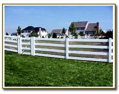 4 Rail Pvc Fence with White Mesh