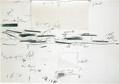 "garadinervi: "" Cy Twombly, April 25, 1928 / 2017 / l'Altissimo / (image: Cy Twombly, Study for Treatise of the Veil, 1970) """