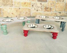 Comedero de perro/gato tazones de fuente del por BegandBarkBoutique