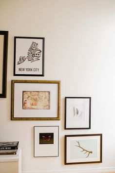 Neutral and chic gallery wall