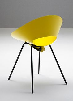 KD04 Chair by Matrix International | #Design Donald R. Knorr (1948) #yellow #colour @Matrix International