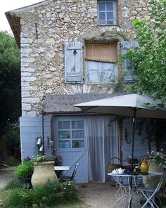 My French Country Home, French Living - Sharon Santoni My French Country Home, French Cottage, French Farmhouse, French Decor, French Country Decorating, Houses In France, Estilo Country, Blue Shutters, Provence France