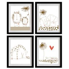 ON SALE Safari Animals Nursery Art Print  by MadeForYouPrints